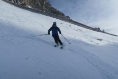 testiranje snežnih razmer izven smučišča
