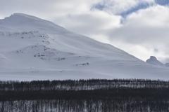 Pogled na skoraj kilometrske flanke
