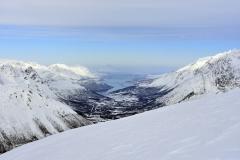 Pogled na kilometer nižje fjorde