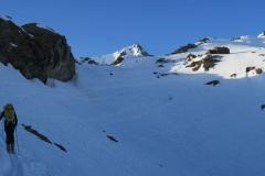 V senci pod Deffregershutte se je hitro pokazalo, da smo skoraj 3 km visoko