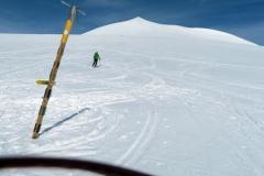 »Ravnina« pod vrhom, pred prelomom ledenika
