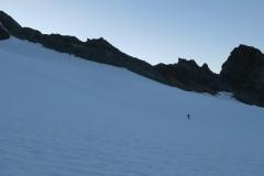 Zgodnje jutro na ledeniku Kodnitzkees