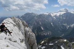 Pogled v dolino Vrat in na Triglav