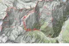 Mapa vzpona in spusta