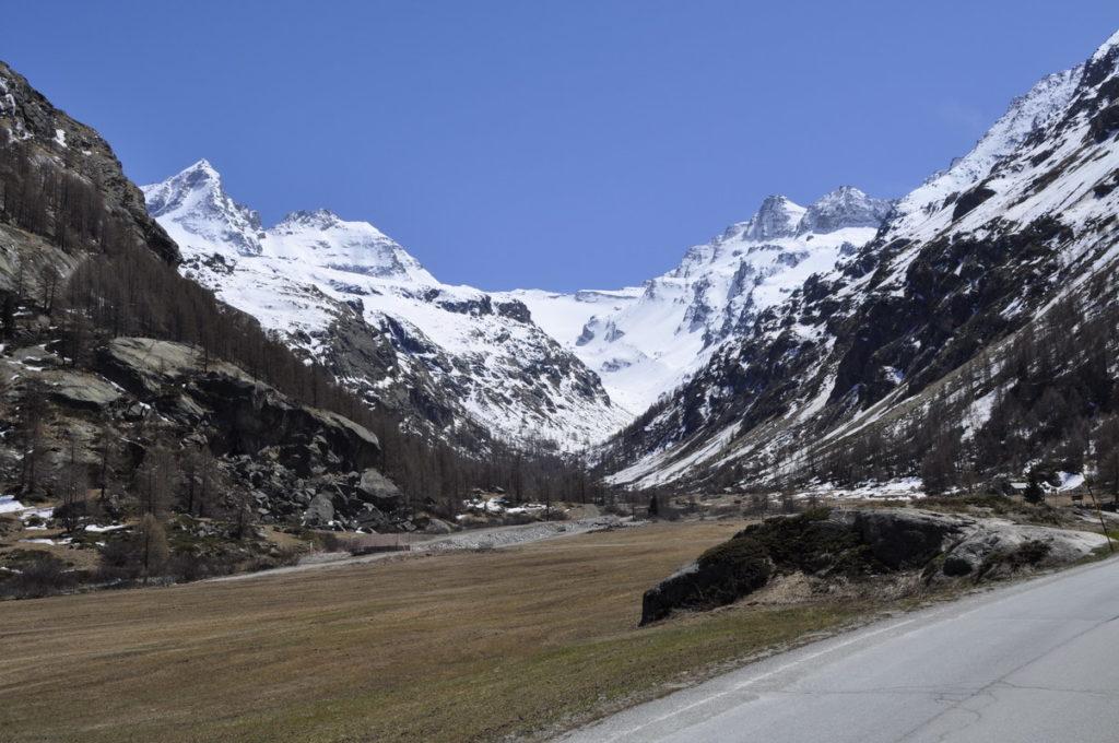 zatrep doline Valsavarenche, naslednji dan tudi mesto našega spusta